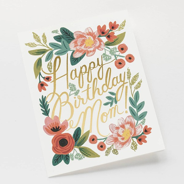 GREETING CARD HAPPY BIRTHDAY MOM RPGCB025 1